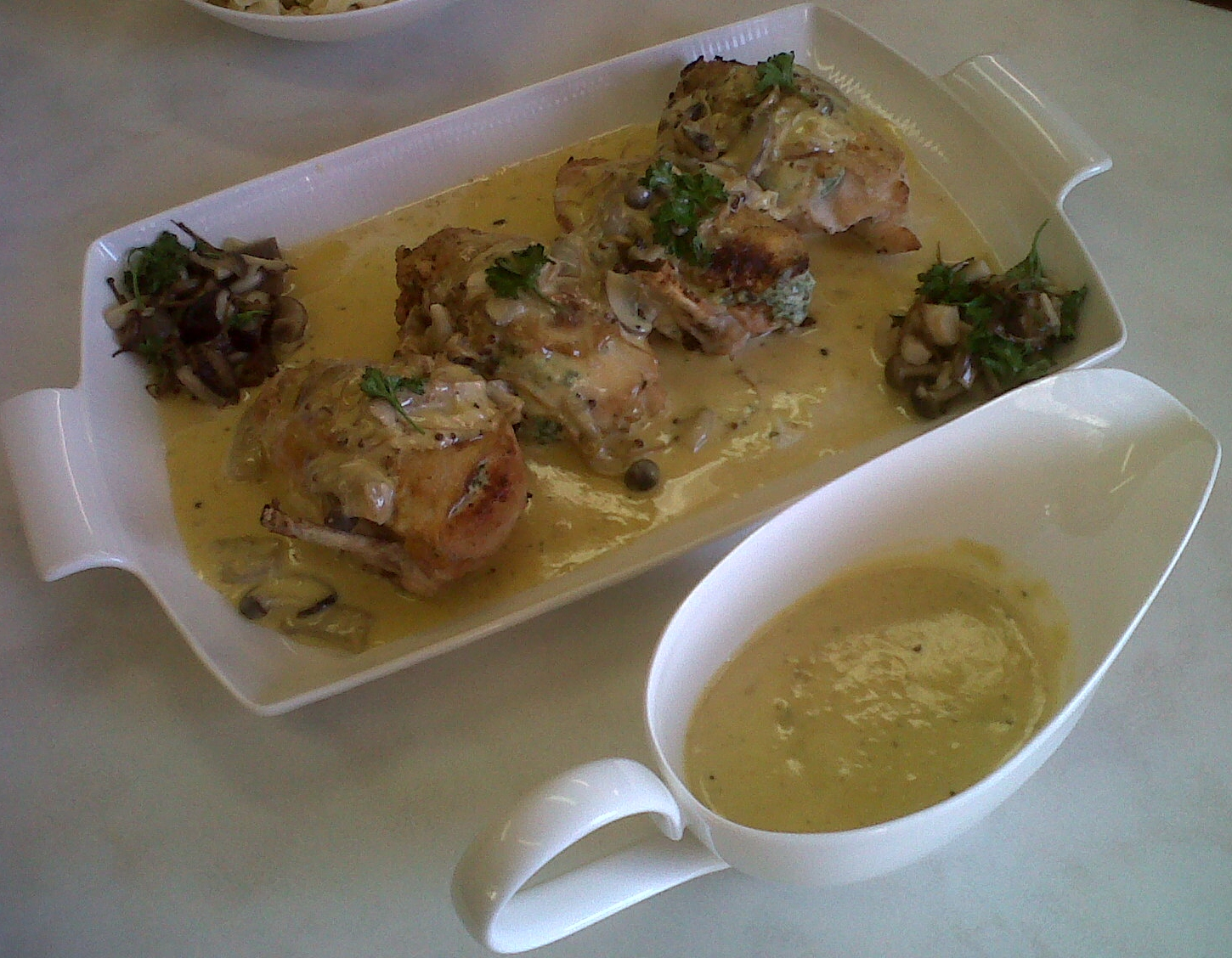 ... Stuffed with Herbed Cheese & Wild Mushrooms and Creamy Mushroom Sauce